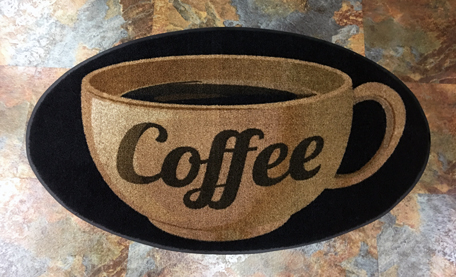 Slogan & Message Mats coffee